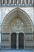 Notre Dame de Paris carhedral Last Judgment Portal entrance door in france
