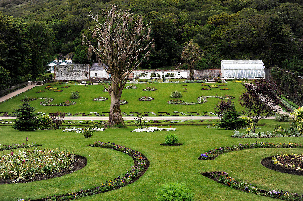 The walled garden at Kylemore Abbey in Connemara, Co. Galway, Ireland.
