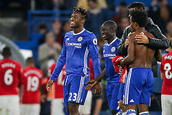 Michy Batshuayi celebrates after Chelsea win 4-0 - Rogan Thomson/JMP - 23/10/2016 - FOOTBALL - Stamford Bridge Stadium - London, England - Chelsea v Manchester United - Premier League.