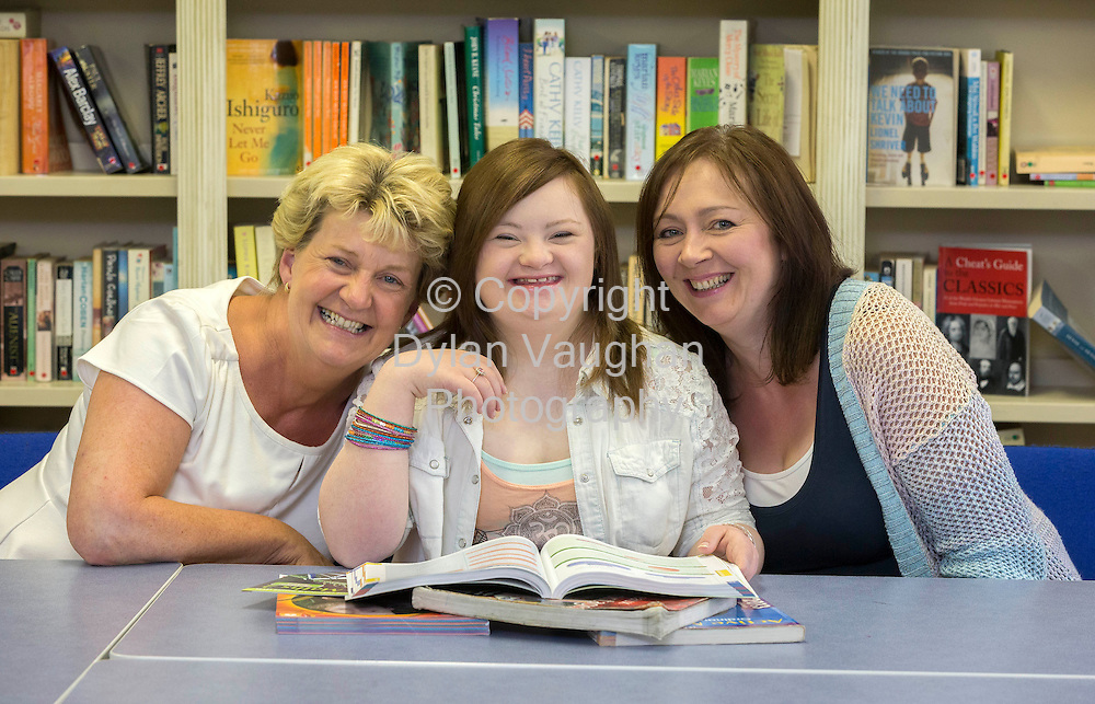 13/8/2013<br /> <br /> Hannah Brennan aged 20 pictured at St Leo's College in Carlow yesterday awaiting tomorrows Leaving Certificate results.<br /> Also in the picture is the school principal Clare Ryan (left) and her mother Joanna Brennan.<br /> Picture Dylan Vaughan.