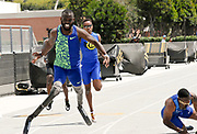 Paralympic athlete Patrick Leeper wins the 400m in 45.73 during the Jim Bush Southern California USATF Championships, Saturday, June 29, 2019, in Long Beach,  Calif.  (Ken McLin/Image of Sport)