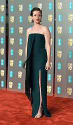 February 11, 2019 - London, New York, United Kingdom of Great Britain and Northern Ireland - Claire Foy arriving at the EE British Academy Film Awards on at the Royal Albert Hall on February 10 2019 in London, England  (Credit Image: © Famous/Ace Pictures via ZUMA Press)