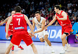 Bogdan Bogdanovic of Serbia  vs Rosco Allen of Hungary during basketball match between National Teams of Serbia and Hungary at Day 11 in Round of 16 of the FIBA EuroBasket 2017 at Sinan Erdem Dome in Istanbul, Turkey on September 10, 2017. Photo by Vid Ponikvar / Sportida