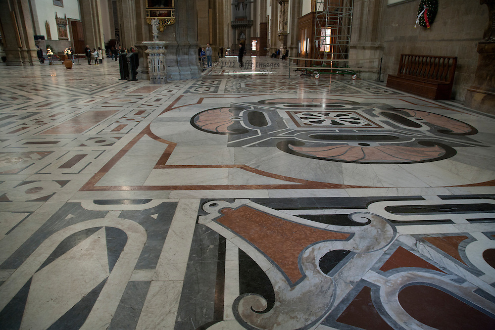 Floor of the duomo nave.