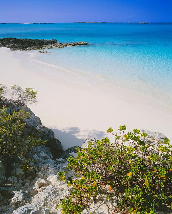 6204-1016 ~ Copyright: George H. H. Huey ~ Beach near village of Forbes Hill, Little Exuma Island. Exuma Cays, Bahamas.