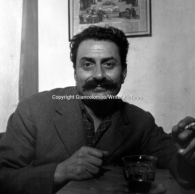 Giovannino Guareschi in  Milan <br /> 1952<br /> <br /> Photograph by Giancolombo/Writer Pictures<br /> <br /> WORLD RIGHTS, NO AGENCY, NO ITALY