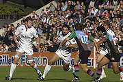 EDF Energy Cup, Sharks, Sebastien CHABAL attacking with the  ball  during the, first half of the,  NEC Harlequins vs Sale Sharks rugby match at the Stoop Stadium, Twickenham. 07/10/2006 . [Photo, Peter Spurrier/Intersport-images]..