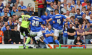 Brighton midfielder, winger, Kazenga LuaLua opens the scoring during the Sky Bet Championship match between Ipswich Town and Brighton and Hove Albion at Portman Road, Ipswich, England on 29 August 2015.