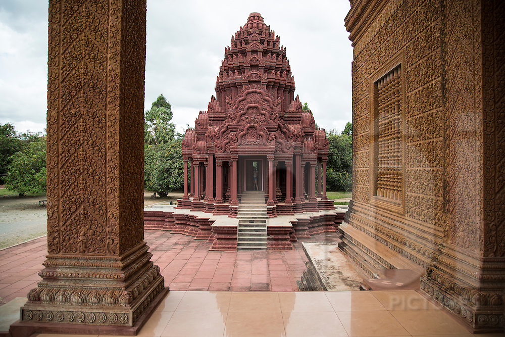 Prasat Phnom Reap, a newly constructed temple about 30 km Northwest of Phnom Penh City in Sangkat Ponsang, Phnom Penh, Cambodia, Southeast Asia