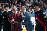 REGINA, SK - MAY 21: Don Cherry and Ron MacLean at the Brandt Centre on May 21, 2018 in Regina, Canada. (Photo by Marissa Baecker/CHL Images)