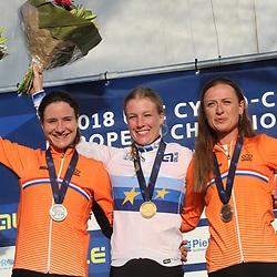 04-11-2018: Wielrennen: EK veldrijden: Rosmalen<br />Annemarie Worst (Nunspeet) pakt de Europese titel in het veld voor Marianne Vos (Wijk en Aalburg) en Denise Bensema (Texel)