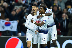 February 13, 2019 - London, England, United Kingdom - Tottenham forward Heung-Min Son celebrates his goal during the UEFA Champions League match between Tottenham Hotspur and Ballspielverein Borussia 09 e.V. Dortmund at Wembley Stadium, London on Wednesday 13th February 2019. (Credit: Jon Bromley | MI News & Sport Ltd) (Credit Image: © Mi News/NurPhoto via ZUMA Press)