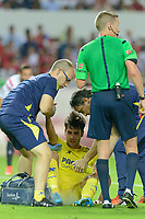 during the match between Sevilla FC and Villarreal day 9 spanish  BBVA League 2014-2015 day 5, played at Sanchez Pizjuan stadium in Seville, Spain.(PHOTO: CARLOS BOUZA / BOUZA PRESS / ALTER PHOTOS)