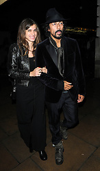 Elisa Sednaoui and guest attend Chanel: The Little Black Jacket dinner at Loulou's private members club, 5 Hertford Street in Mayfair, London, UK. 11/10/2012<br />