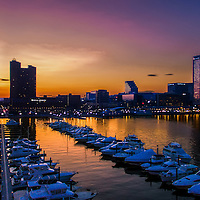 Baltimore's Inner Harbor taken from 300 ft. Please select Shopping Cart Below to Purchase prints and gallery-wrapped canvases, magnets, t-shirts and other accessories