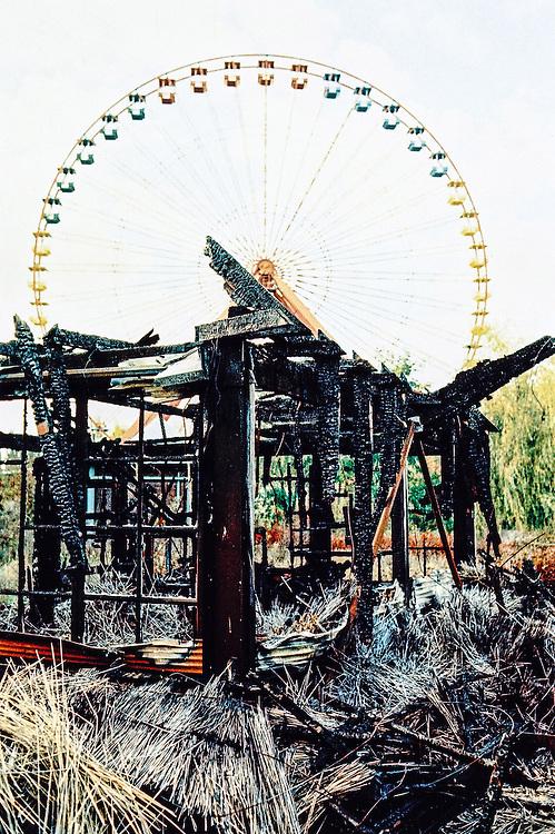 DEU Deutschland Germany Berlin Stilleben im verlassen ehemaligen Spreepark im Plänterwald, dem zu DDR Zeiten größten Vergnügungspark Ostdeutschlands.