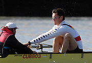 Putney. GREAT BRITAIN,  right, stroke, Bernd  HEIDICKER and cox. Peter  THIEDE, during the Cambridge University  vs German National Eight race,  raced over the Boat Race Course, on the River Thames, London, on Sat.  03.03.2007,  [Photo Peter Spurrier/Intersport Images] .crew: CUBC bow, Kip McDANIEL, Dan O'SHAUGHNESSY, Peter CHAMPION,.Jacob (Jake) CORNELIUS, Tom JAMES (President), Kieran WEST, Sebastian  SCHULTE, Stroke, Thorsten  ENGLEMANN, cox. Russell GLENN. ..stroke, Bernd  HEIDICKER, cox. Peter  THIEDE  [Mandatory Credit, Peter Spurier/ Intersport Images]. , Rowing Course: River Thames, Championship course, Putney to Mortlake 4.25 Miles, , Varsity Boat Race.