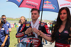 July 8, 2018 - Misano, Italy, Italy - 2 Leon Camier (2) GBR Honda CBR1000RR Red Bull Honda World Superbike Team during the Motul FIM Superbike Championship - Italian Round  Sunday race during the World Superbikes - Circuit PIRELLI Riviera di Rimini Round, 6 - 8 July 2018 on Misano, Italy. (Credit Image: © Fabio Averna/NurPhoto via ZUMA Press)