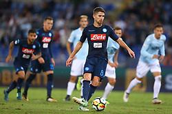 September 20, 2017 - Rome, Lazio, Italy - Jorginho of Napoli scoring the penalty of 1-4 during the Serie A match between SS Lazio and SSC Napoli at Stadio Olimpico on September 20, 2017 in Rome, Italy. (Credit Image: © Matteo Ciambelli/NurPhoto via ZUMA Press)