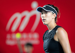 October 9, 2018 - Garbine Muguruza of Spain in action during her first-round match at the 2018 Prudential Hong Kong Tennis Open WTA International tennis tournament (Credit Image: © AFP7 via ZUMA Wire)