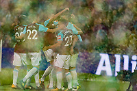 Football - 2017 / 2018 EFL (League) Cup - Third Round: West Ham United vs. Bolton Wanderers<br /> <br /> West Hamplayers celebrate the second goal of the night at the London Stadium.<br /> <br /> <br /> COLORSPORT/DANIEL BEARHAM