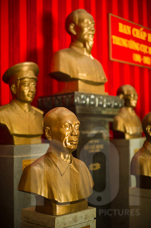 Figurines are displayed in a military monument near Dong Phu, Binh Phuoc province, Vietnam, Southeast Asia