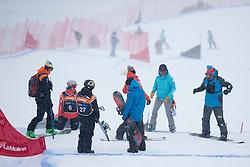 BUNSCHOTEN Lisa, SUUR-HAMARI Matti, Snowboarder Cross, 2015 IPC Snowboarding World Championships, La Molina, Spain