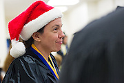 Students from the San Jose State University Forensic Science department hold a Fall graduation ceremony at the Santa Clara County Crime Lab in San Jose, Calif., on December 11, 2012.  (Stan Olszewski/SOSKIphoto)