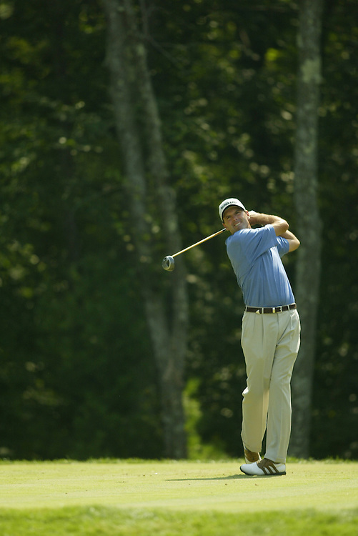 Len Mattiace.2003 Deutsche Bank Boston Championship.Second Round.TPC of Boston.Norton, MA.Saturday, August 30, 2003.photograph by Darren Carroll.