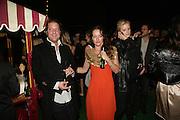 Lars von Bennigsen, Alice Temperley and Fiona Scarry , Moet Mirage, Holland Park. 16 September 2007. -DO NOT ARCHIVE-© Copyright Photograph by Dafydd Jones. 248 Clapham Rd. London SW9 0PZ. Tel 0207 820 0771. www.dafjones.com.
