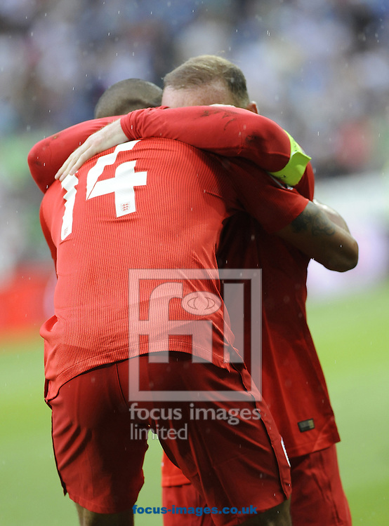 Wayne Rooney of England celebrates scoring their third goal during the UEFA Euro 2016 Qualifying match at Stozice Stadium, Ljubljana<br /> Picture by Stefano Gnech/Focus Images Ltd +39 333 1641678<br /> 14/06/2015