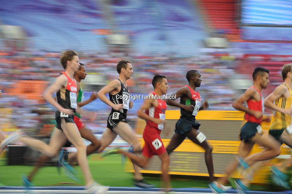 MOSCOW, RUSSIA - AUGUST 16:  Nicholas Willis of New Zealand competes in the semi final of the Men's 1500m during Day Seven of the 14th IAAF World Athletics Championships Moscow 2013 at Luzhniki Stadium on August 16, 2013 in Moscow, Russia. (Photo by Ian MacNicol)