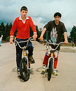 Teenagers on their BMX's