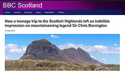 BBC website; Suilven mountain