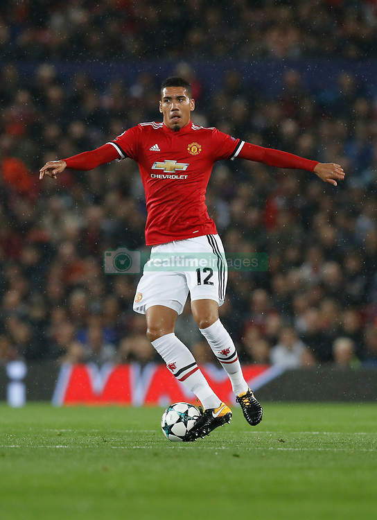 Manchester United's Chris Smalling during the UEFA Champions League, Group A match at Old Trafford, Manchester. PRESS ASSOCIATION Photo. Picture date: Tuesday September 12, 2017. See PA story SOCCER Man Utd. Photo credit should read: Martin Rickett/PA Wire