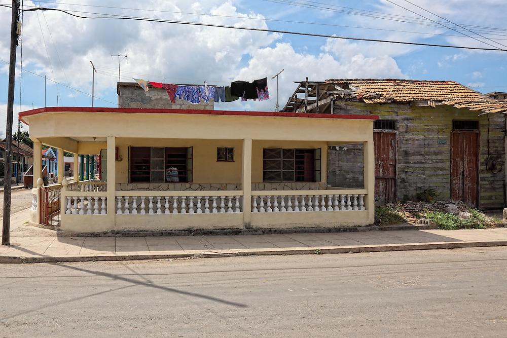 Houses in Santa Cruz del Norte, Mayabeque, Cuba.