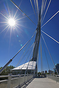 Esplanade Riel Bridge. Architect Etienne Gaboury, Winnipeg, , Canada