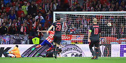 Atletico Madrid's Diego Costa scores his side's first goal of the game during the UEFA Europa League, Semi Final, Second Leg at Wanda Metropolitano, Madrid.