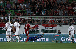 August 31, 2017 - Budapest, Hungary - First Hungarian goal during the World Cup qualification match between Hungary and Latvia at Groupama Arena on Aug 31, 2017 in Budapest, Hungary. (Credit Image: © Robert Szaniszlo/NurPhoto via ZUMA Press)