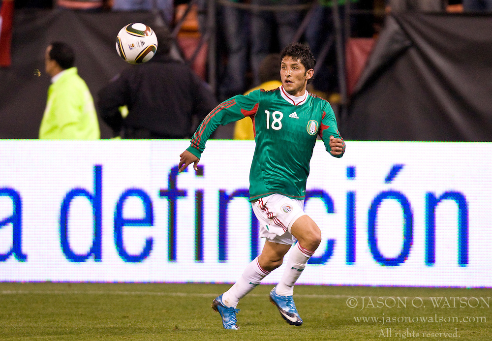 February 24, 2010; San Francisco, CA, USA;  Mexico forward Angel Eduardo Reyna (18) during the second half against Bolivia at Candlestick Park. Mexico defeated Bolivia 5-0.