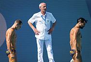 Refereee Irakli KIKALISHVILI (GEO)<br /> MNE - MLT Montenegro (white caps) vs. Malta (blue caps) <br /> Barcelona 18/07/18 Piscines Bernat Picornell <br /> Men qualification<br /> 33rd LEN European Water Polo Championships - Barcelona 2018 <br /> Photo Pasquale Mesiano/Deepbluemedia/Insidefoto