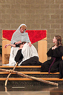 Jubilee members interpret Station Thirteen, where Jesus is taken from the cross, during a performance of 'The Way of the Cross' at St. Luke Catholic Parish in Beavercreek, Friday, March 30, 2012.  'The Way of the Cross' retraces 'the path Jesus walked on his way to Calvary.'