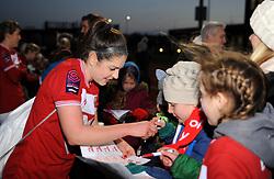 Carla Humphrey of Bristol City signs autographs for fans  - Mandatory by-line: Nizaam Jones/JMP - 27/01/2019 - FOOTBALL - Stoke Gifford Stadium - Bristol, England - Bristol City Women v Yeovil Town Ladies- FA Women's Super League 1
