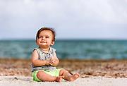 Lucas enjoying time on Sombrero Beach.