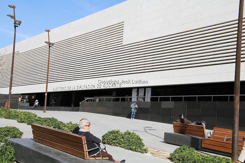 Alicante Auditorium High Quality Prints please enquire via contact Page. Rights Managed Downloads available for Press and Media