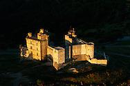 France, Languedoc Roussillon, Gard, Cevennes,  château de Portes, vue aérienne