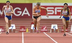07-03-2015 CZE: European Athletics Indoor Championships, Prague<br /> Dafne Schippers NED, Irene Ekellund SWE, Lenka Krsakova SVK