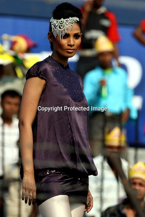 A Modal Showing The gitanjali Jewellrys In Fashion Show During The Indian Premier League - 15th match Twenty20 match 2009/10 season Played at Barabati Stadium, Cuttack 21 March 2010 - day/night (20-over match)