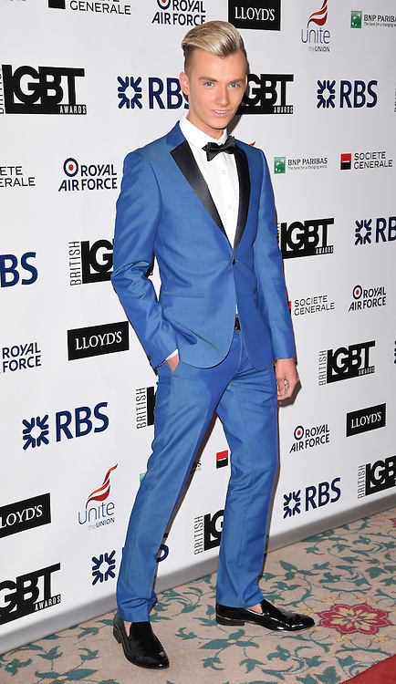 Harry Derbidge attends The British LGBT Awards at The Landmark Hotel, London on Friday 24 April 2015
