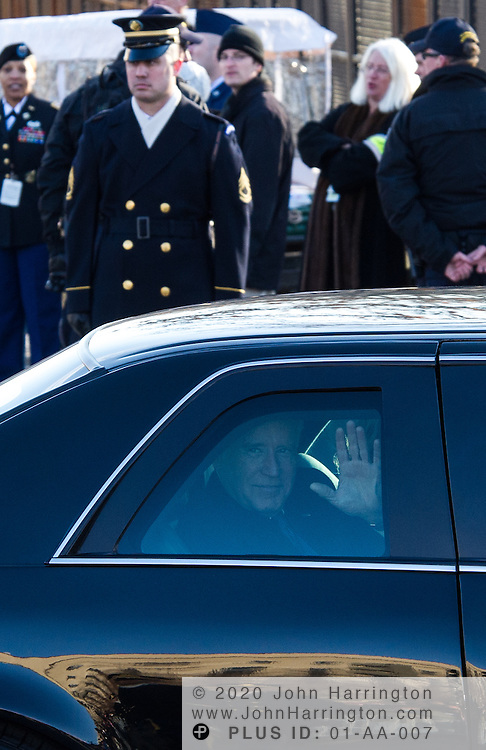 Vice President Biden and Jill Biden process down the parade route during the 57th Presidential Inauguration of President Barack Obama at the U.S. Capitol Building in Washington, DC January 21, 2013.